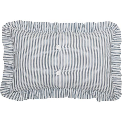 Sawyer Mill Ticking Stripe Pillow - Blue