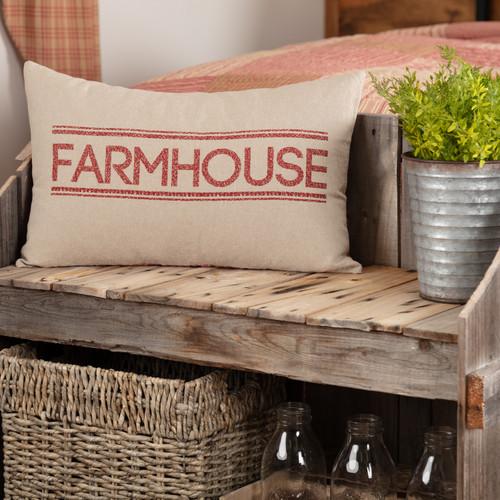 Sawyer Mill Red Farmhouse Pillow