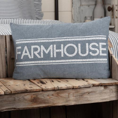 Sawyer Mill Blue Farmhouse Pillow