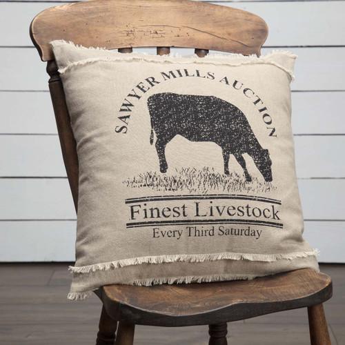Sawyer Mill Cow Pillow
