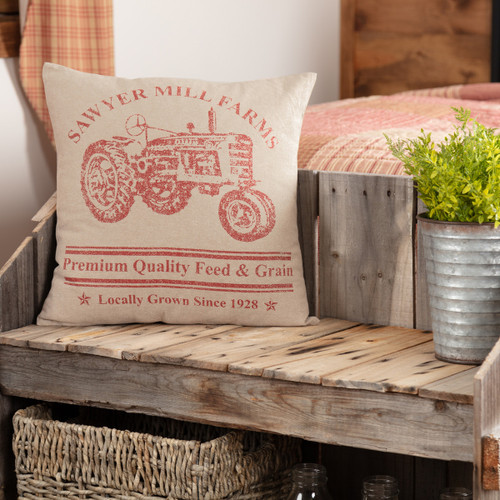 Sawyer Mill Tractor Pillow