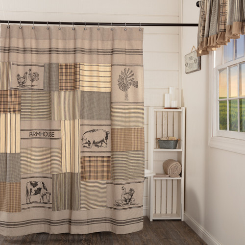 Sawyer Mill Patchwork Shower Curtain