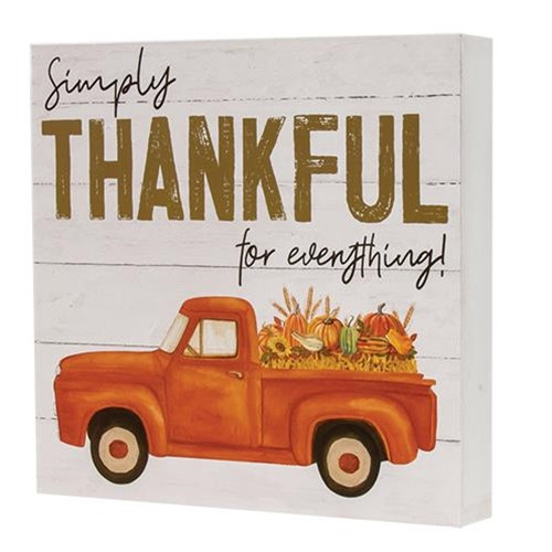 Simply Thankful Truck Box Sign