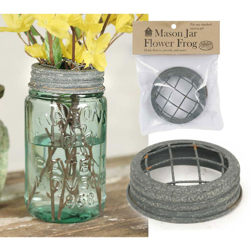 Mason Jar Wire Flower Frog Lid