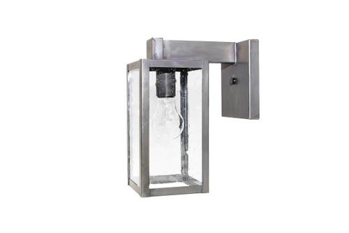 Northeast Lantern Small Outdoor Uptown Wall Lantern - Dark Brass Finish, Clear Seedy Glass