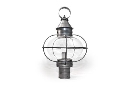 Northeast Lantern Medium Outdoor Caged Onion Wall Lantern - Dark Brass Finish, Clear Glass