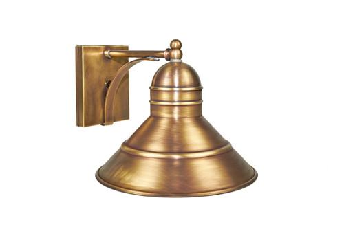 Northeast Lantern Outdoor Barn Wall Light - Antique Brass Finish