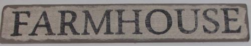 Farmhouse Primitive Wooden Sign