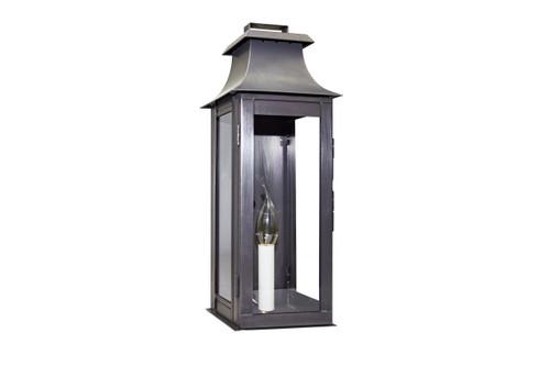 Northeast Lantern Handcrafted Outdoor Pagoda Wall Lantern - Dark Brass Finish, Clear Glass
