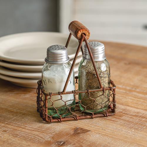 Milk Carrier Salt and Pepper Caddy