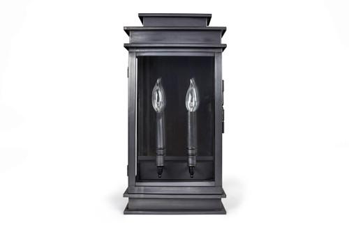 Northeast Lantern Handcrafted Outdoor Empire Wall Lantern - Dark Brass Finish, Clear Glass