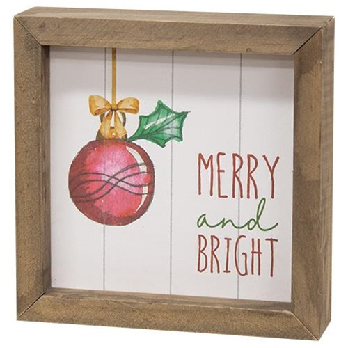 Happy Harvest, Merry & Bright Two-Sided Framed Sign