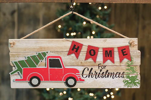 Home for Christmas Hanging Sign