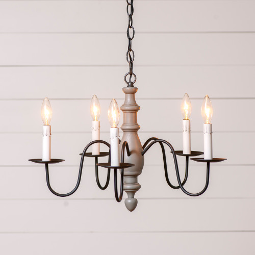Irvin's Country Inn Wooden Chandelier In Rustic Chic Brown