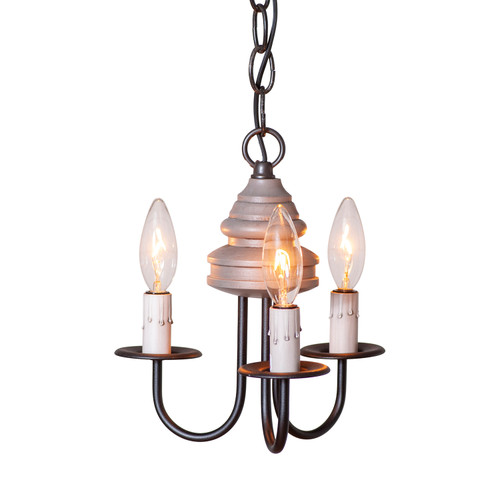 Irvin's Tinware Bellview Light Fixture Finished In Rustic Chic Earl Grey