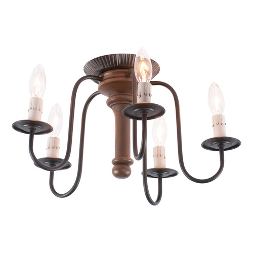 Irvin's Berkshire Ceiling Light In Rustic Brown