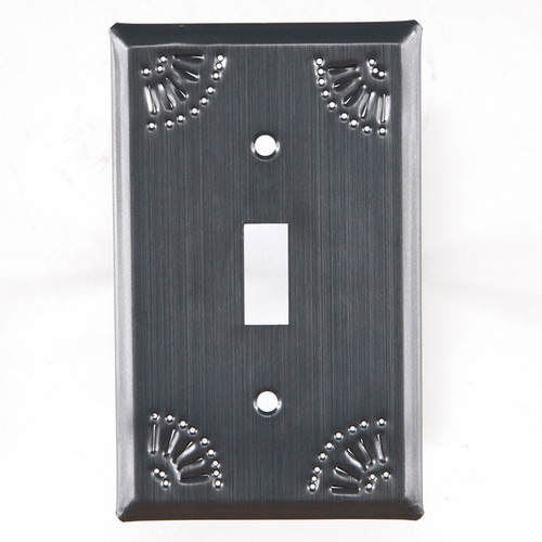 Country Tin Single Switch Plate Cover With Chisel Design