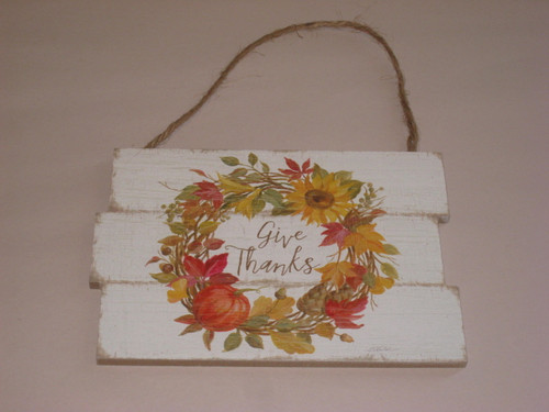 Harvest Home - Hanging Signs - Give Thanks