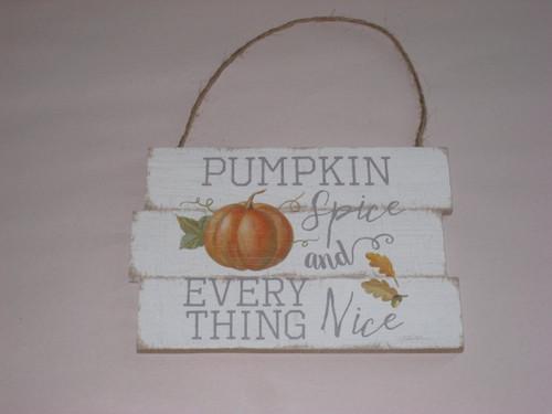 Harvest Home - Hanging Signs - Pumpkin Spice