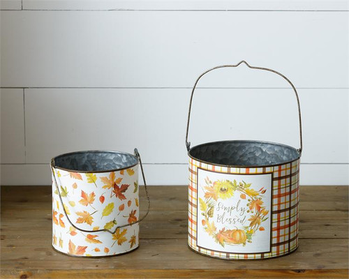 Harvest Home Tins With Handles