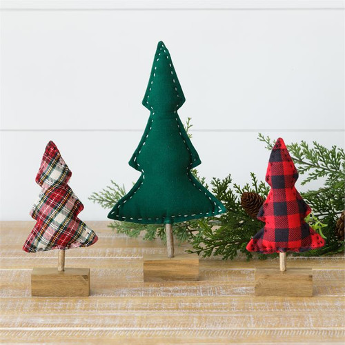 Tartan Buffalo Plaid and Green Cloth Trees
