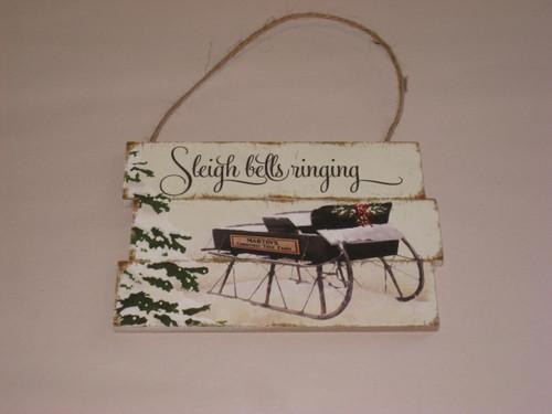 Christmas - Hanging Signs - Sleigh