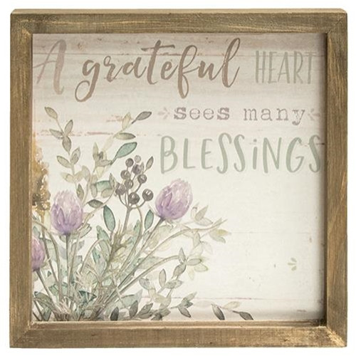 Grateful Heart Framed Sign
