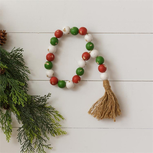 Distressed Christmas Farmhouse Beads