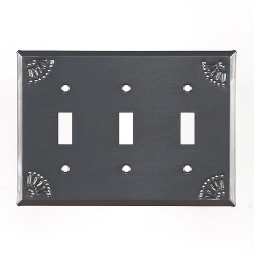 Triple Switch Cover with Chisel in Country Tin