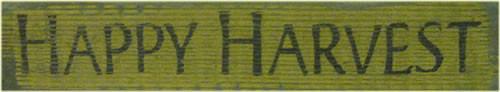 Primitive Wooden Sign - Happy Harvest