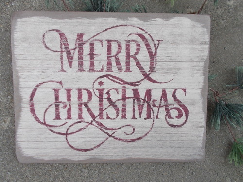 Primitive Merry Christmas Sign
