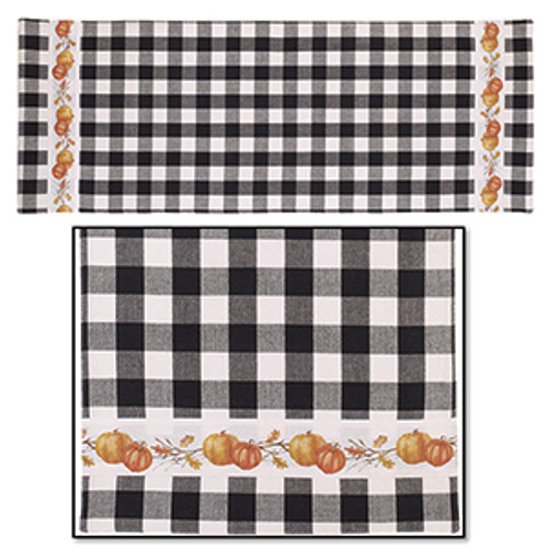 Pumpkin Check Table Runner