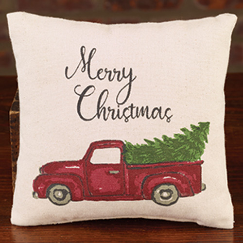 Small Canvas Truck With Tree Pillow