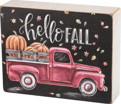 Hello Fall  Chalk Sign