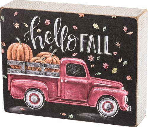 Hello Fall  Chalk Sign