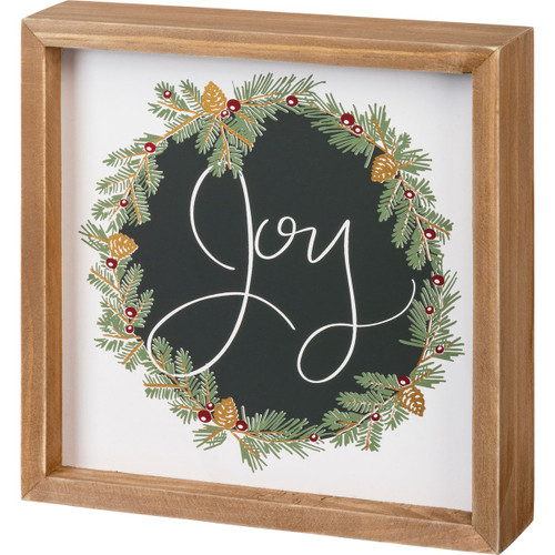 Inset Joy Box Sign