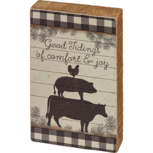 Good Tidings Of Comfort and Joy Box Sign