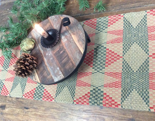 American Christmas Star Fabric Table Runner