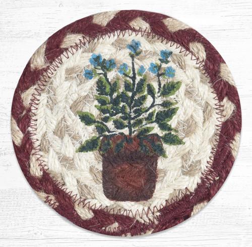 Braided Jute Coaster 5 Inch Round - Sage