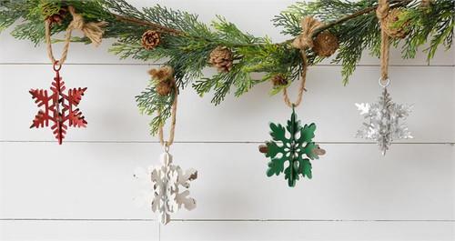 Metal Snowflakes Ornaments