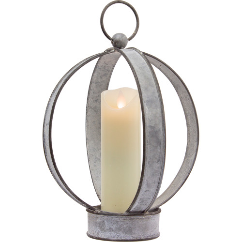 Oval Metal Lantern