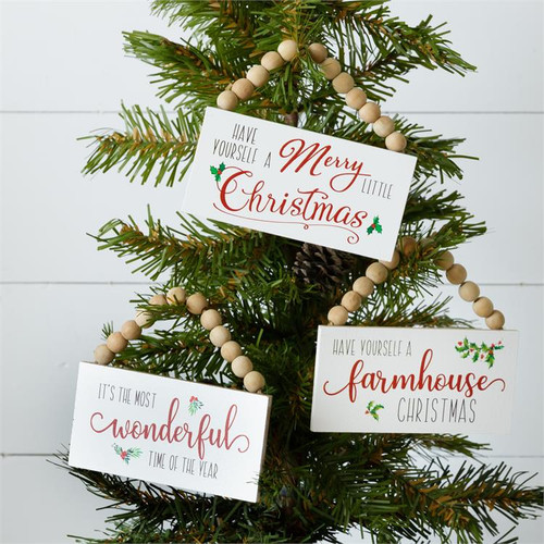 Mini Beaded Christmas Signs