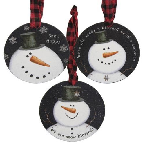 Happy Snowman Ornaments