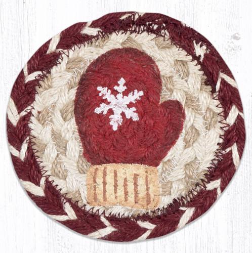 Red Mitten Round Coaster
