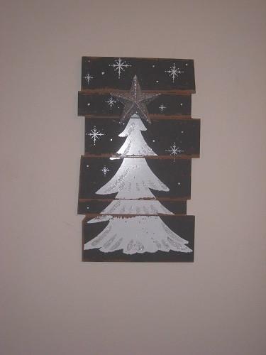 Star Christmas Tree Wood Sign
