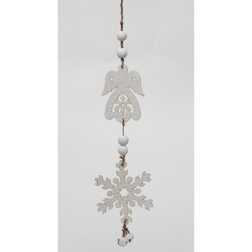 Angel and Snowflake Dangle