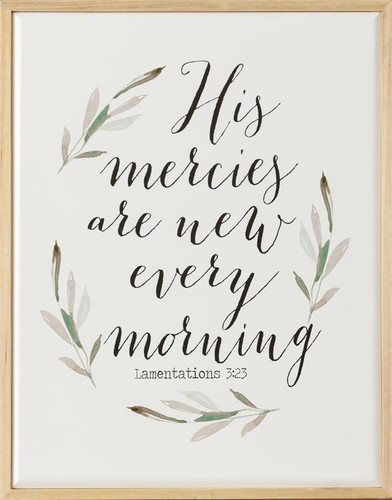 His Mercies Are New Every Morning Sign