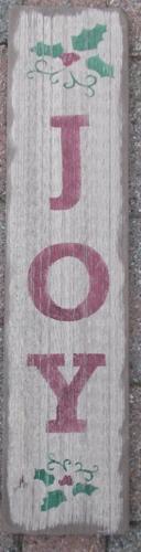 Primitive Wooden Sign Joy