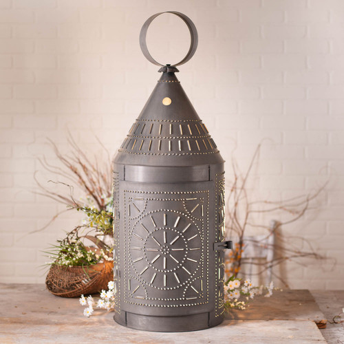 Irvin's Tinware 36-Inch Tinner's Lantern with Chisel in Kettle Black