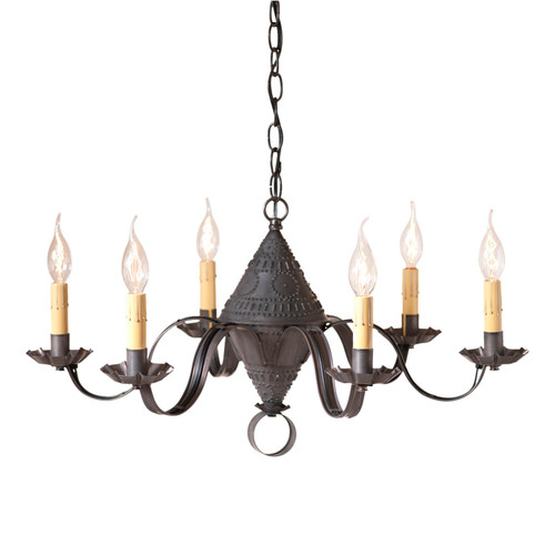 Irvin's Tinware Concord Chandelier In Kettle Black